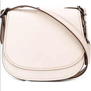 COACH Chalk Glovetanned Leather Saddle Crossbody